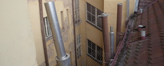 Zábrany proti ptactvu, Praha: Montáž